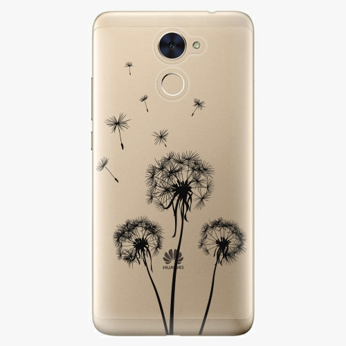Plastový kryt iSaprio - Three Dandelions - black - Huawei Y7 / Y7 Prime