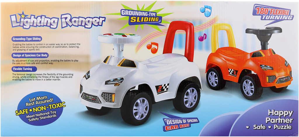Baby autíčko odrážedlo 50x36x23cm s klaksonem na baterie Světlo Zvuk 2 barvy