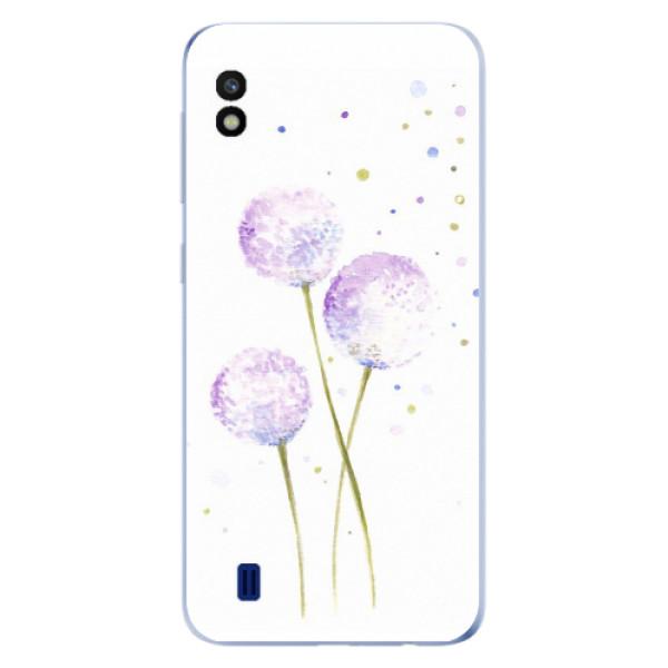 Odolné silikonové pouzdro iSaprio - Dandelion - Samsung Galaxy A10