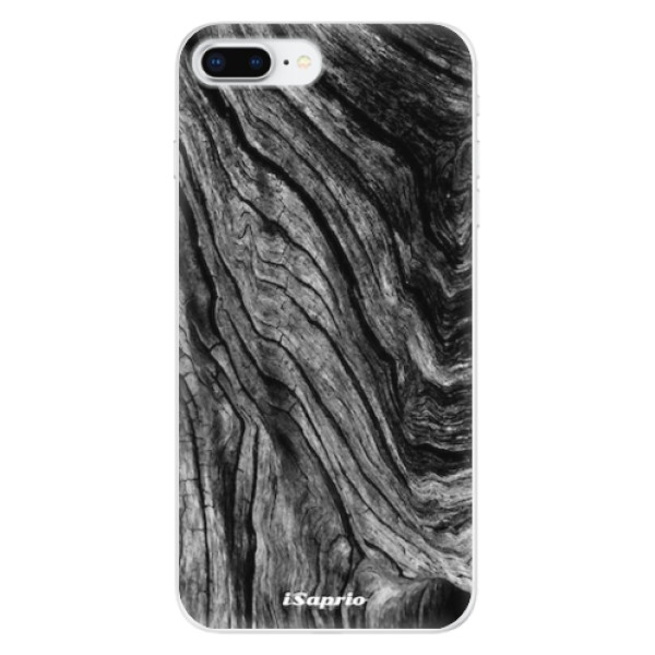 Odolné silikonové pouzdro iSaprio - Burned Wood - iPhone 8 Plus