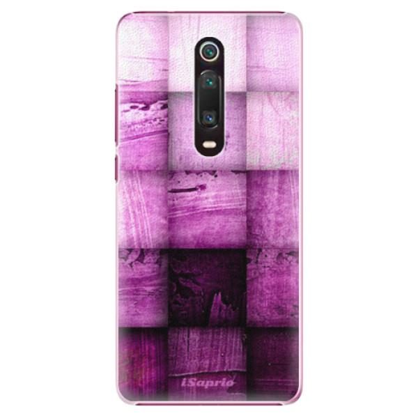 Plastové pouzdro iSaprio - Purple Squares - Xiaomi Mi 9T