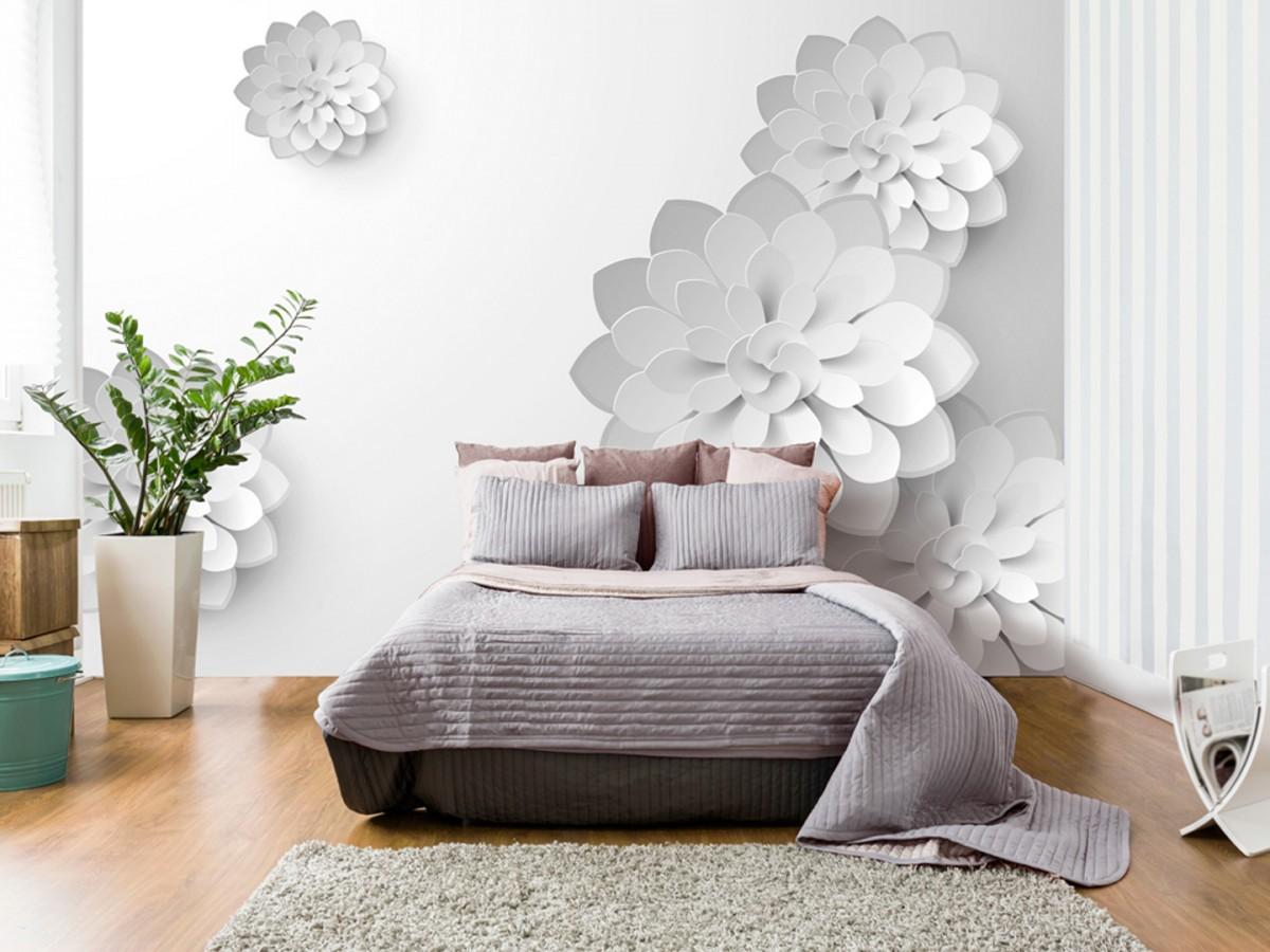 3D tapeta - Bílá zahrada