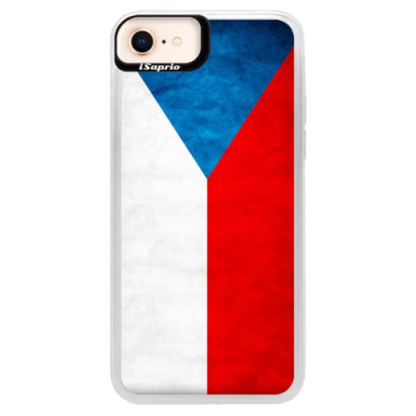 Neonové pouzdro Blue iSaprio - Czech Flag - iPhone 8
