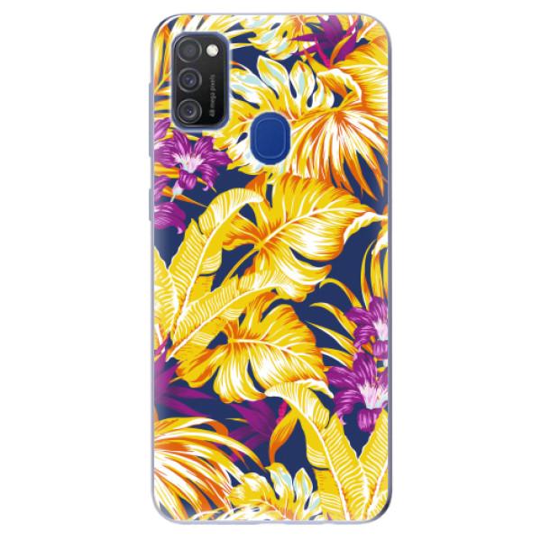 Odolné silikonové pouzdro iSaprio - Tropical Orange 04 - Samsung Galaxy M21