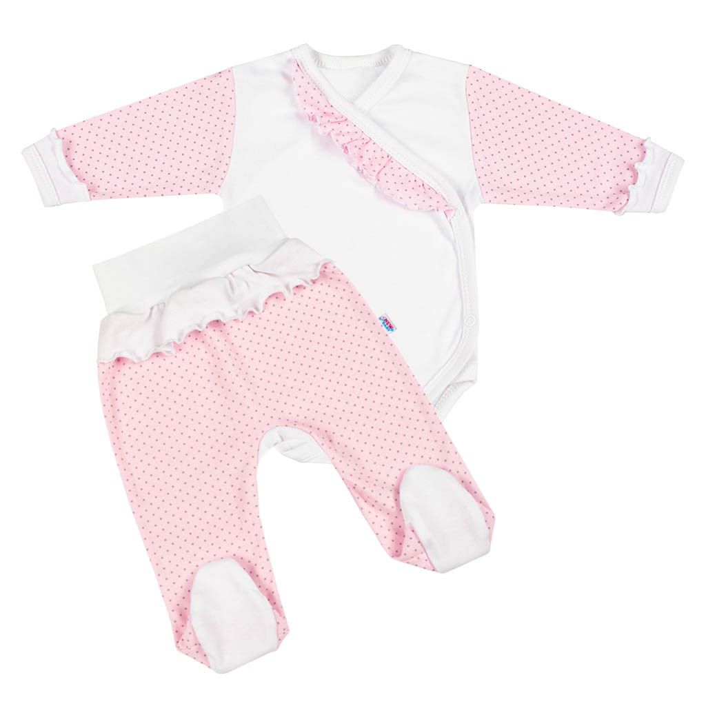 2-dílná kojenecká souprava New Baby Puntík II bílo
