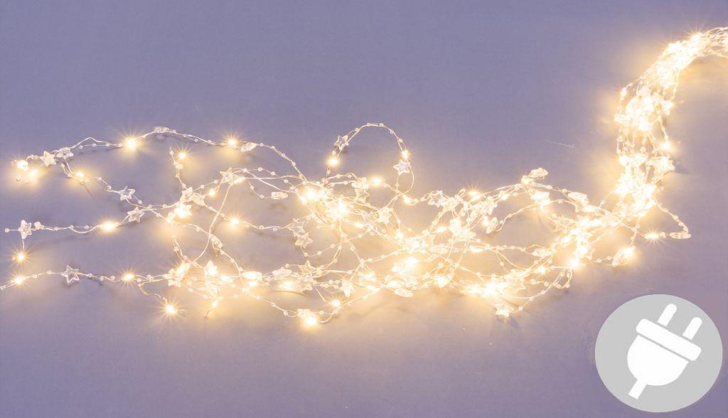 Dekorativní osvětlení perly a hvězdy - 200 LED