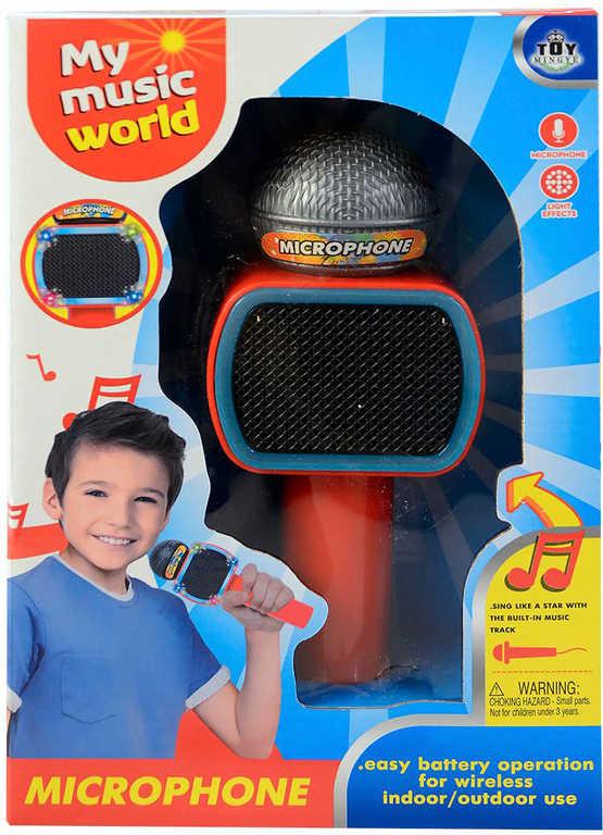 Mikrofon dětský bluetooth karaoke s melodií na baterie LED Světlo Zvuk plast