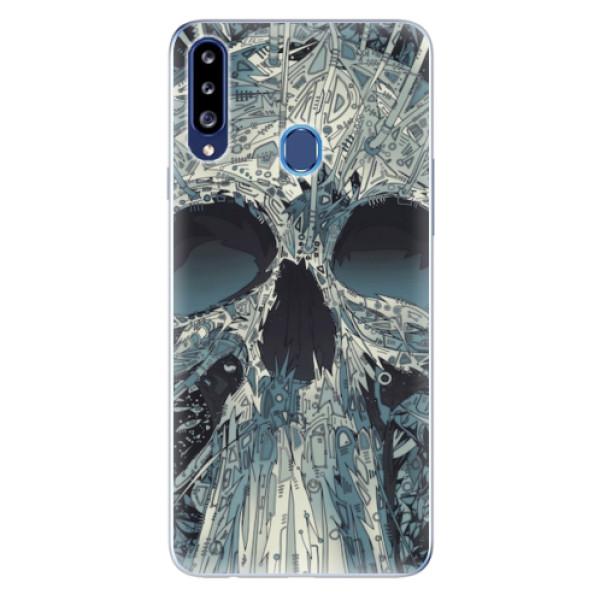 Odolné silikonové pouzdro iSaprio - Abstract Skull - Samsung Galaxy A20s