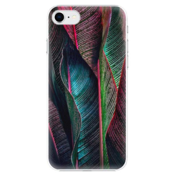 Plastové pouzdro iSaprio - Black Leaves - iPhone SE 2020