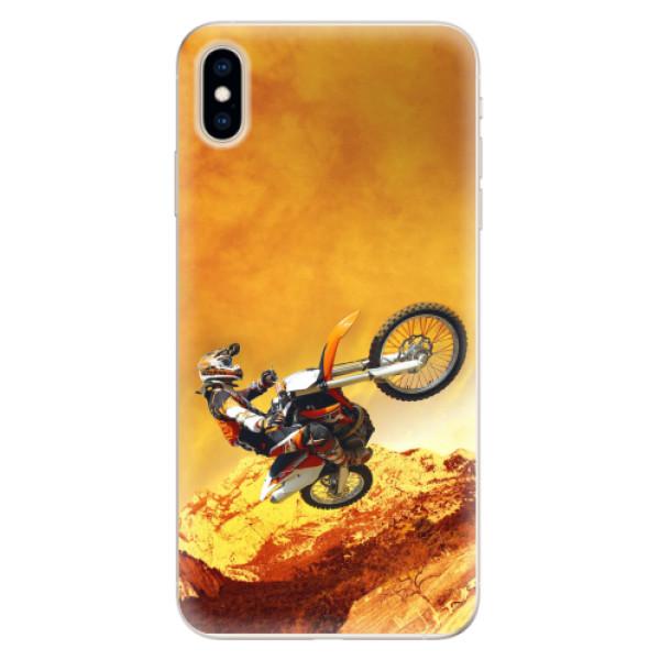 Silikonové pouzdro iSaprio - Motocross - iPhone XS Max