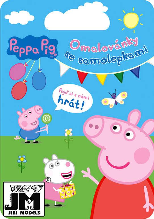 JIRI MODELS Kreativní set omalovánky a samolepky Peppa Pig