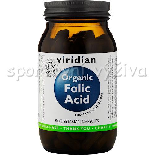 Viridian Folic Acid Organic - BIO 90 kapslí