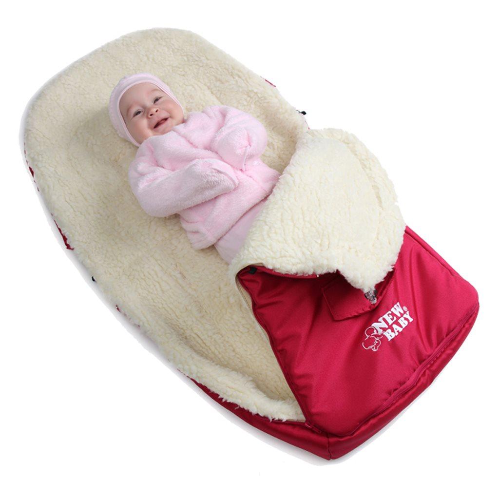 Luxusní fusák s ovčím rounem New Baby