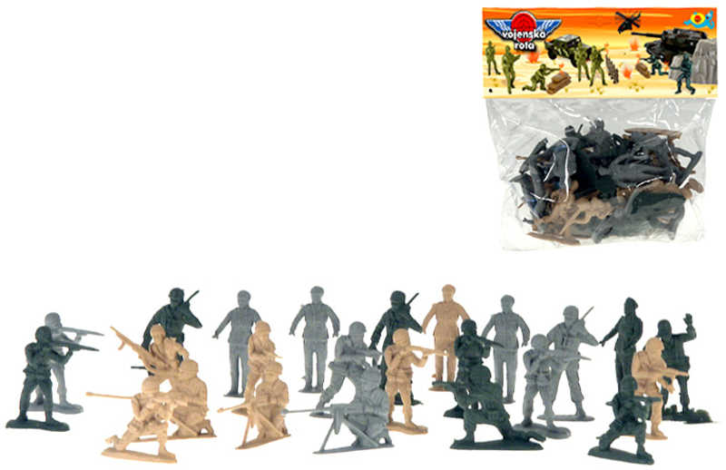 Vojáci army set plastové figurky akční vojenské v sáčku