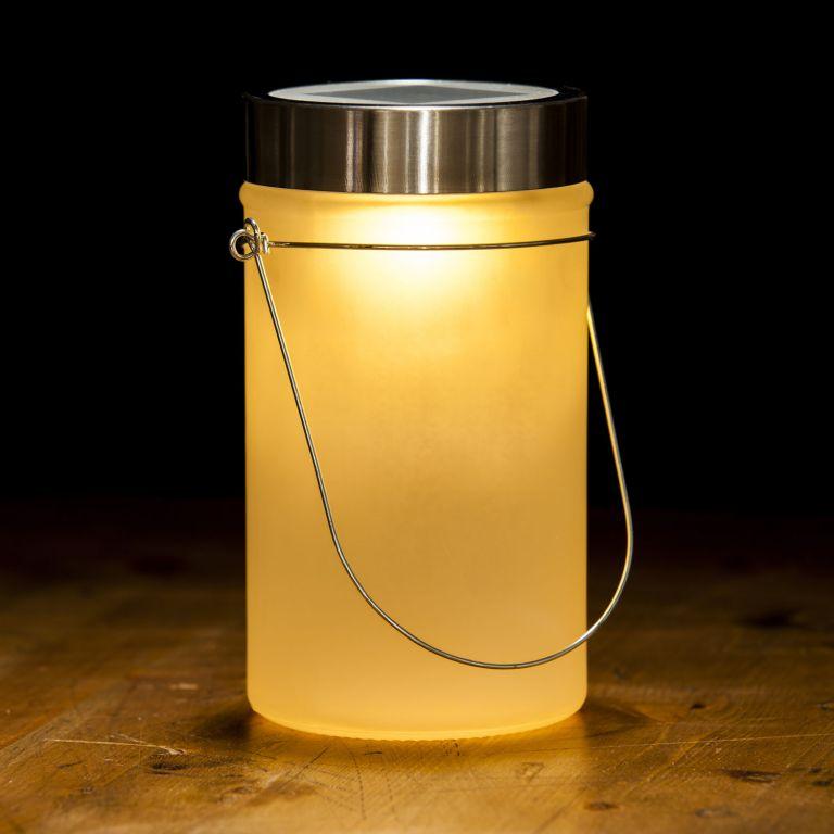 Solární lampa, žlutá