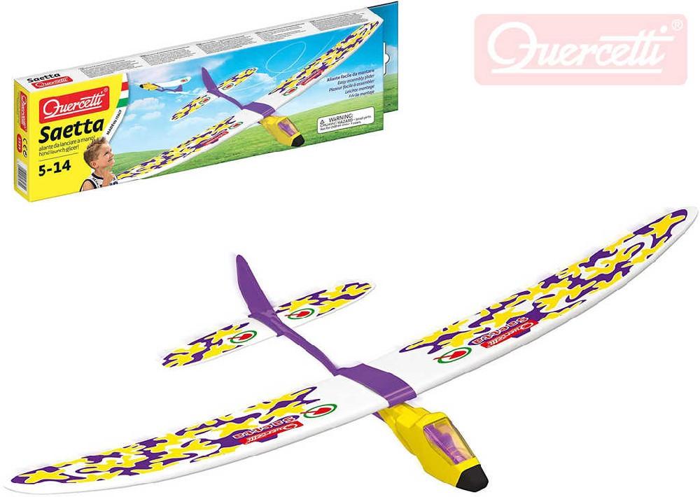 QUERCETTI Saetta letadlo házecí model kluzák v krabičce