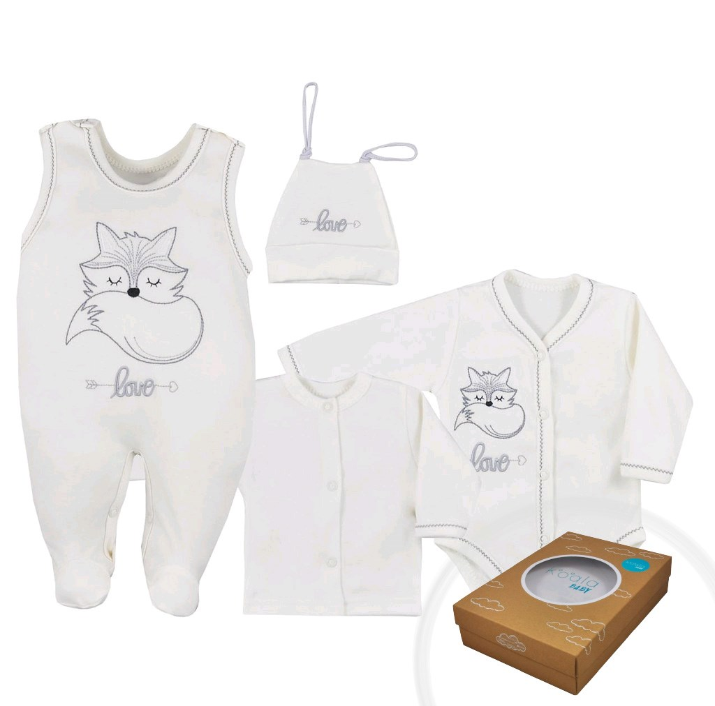 4-dílná kojenecká souprava Koala Fox Love