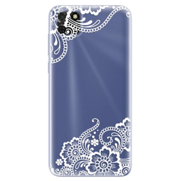 Odolné silikonové pouzdro iSaprio - White Lace 02 - Huawei Y5p
