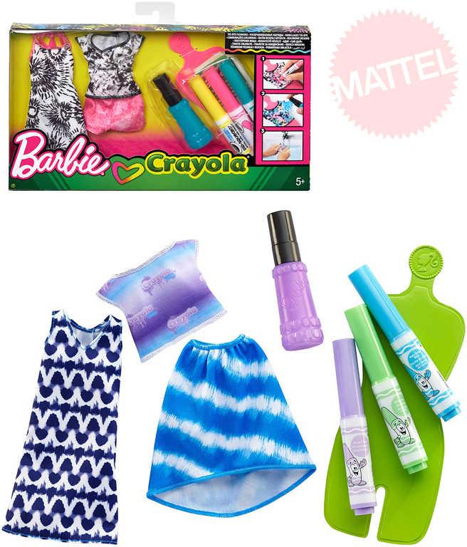 MATTEL BRB Barbie D.I.Y. Crayola batikování návrhářské studio 2 druhy