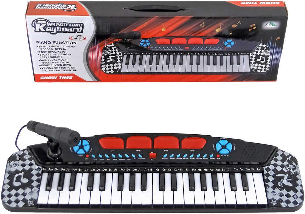 Klávesy dětské set keyboard s mikrofonem na baterie Zvuk plast