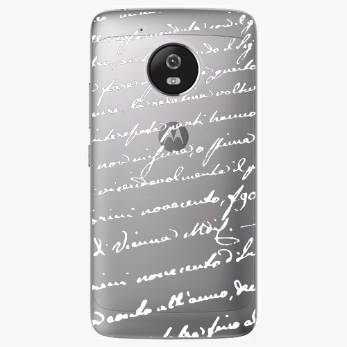 Plastový kryt iSaprio - Handwriting 01 - white - Lenovo Moto G5