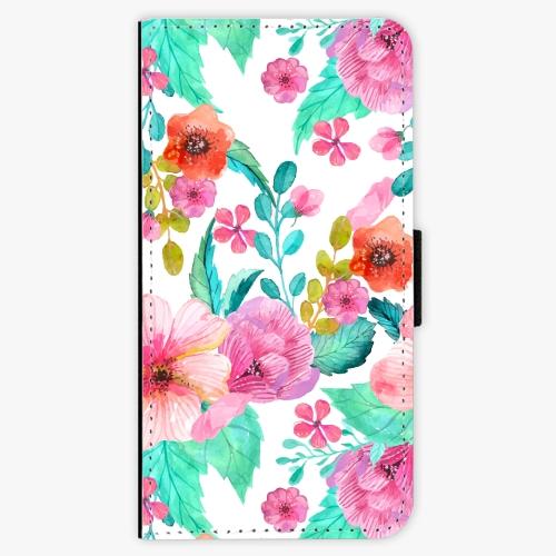 Flipové pouzdro iSaprio - Flower Pattern 01 - Lenovo Moto G5 Plus