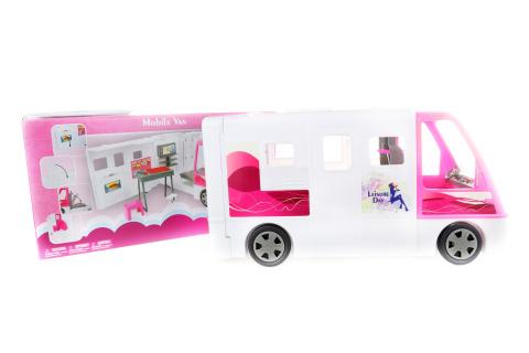 Velký bílý karavan pro panenky