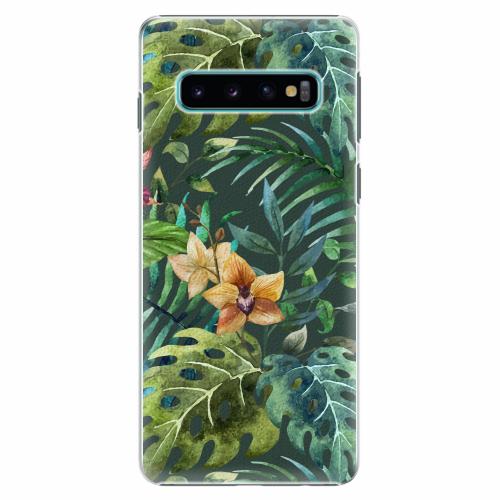 Plastový kryt iSaprio - Tropical Green 02 - Samsung Galaxy S10