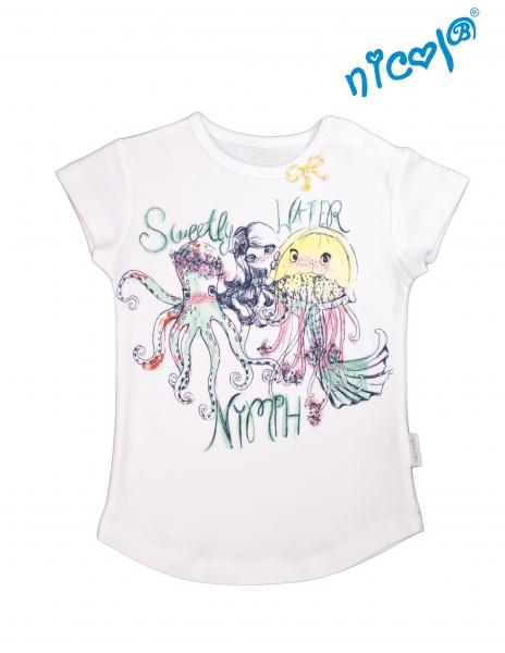 Kojeneké bavlněné tričko Nicol, Mořská víla - krátký rukáv