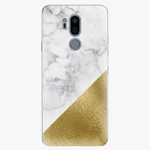 Plastový kryt iSaprio - Gold and WH Marble - LG G7