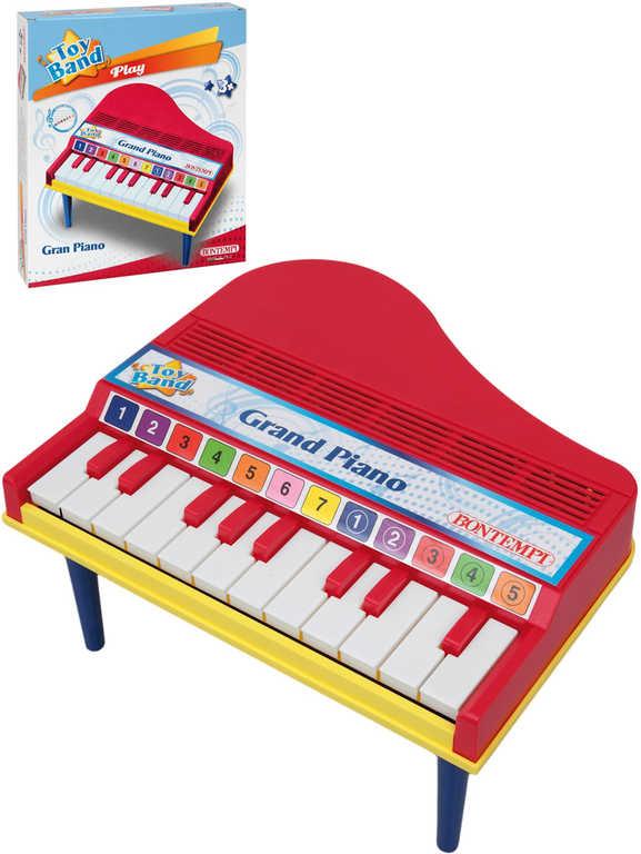 BONTEMPI Grand piáno dětský klavír 12 kláves na nožkách *HUDEBNÍ NÁSTROJE*