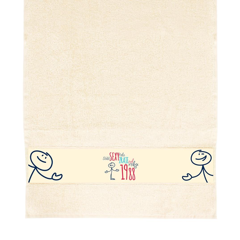 Dárkové ručníky - Béžový ručník - 1988
