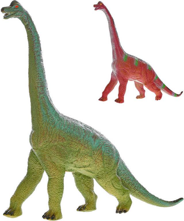 Dinosaurus Brachiosaurus 58cm pravěký ještěr plastový na baterie 2 barvy Zvuk