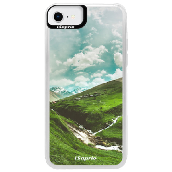 Neonové pouzdro Blue iSaprio - Green Valley - iPhone SE 2020