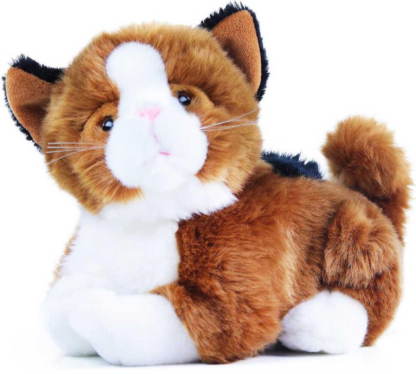 PLYŠ Kočka Mína interaktivní 25cm reaguje na pohlazení na baterie Zvuk