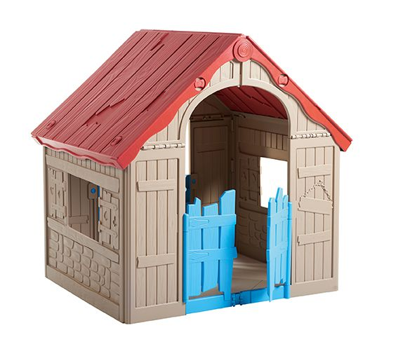 detsky-hraci-domek-foldable-playhouse-bezovy