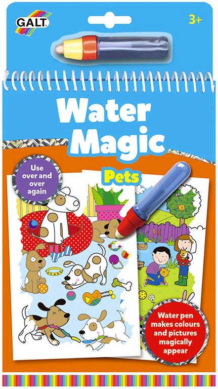 ADC Domácí mazlíčci vodní magie kouzelné obrázky 6ks set s vodním perem