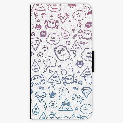 Flipové pouzdro iSaprio - Funny Clouds - Samsung Galaxy J5 2016