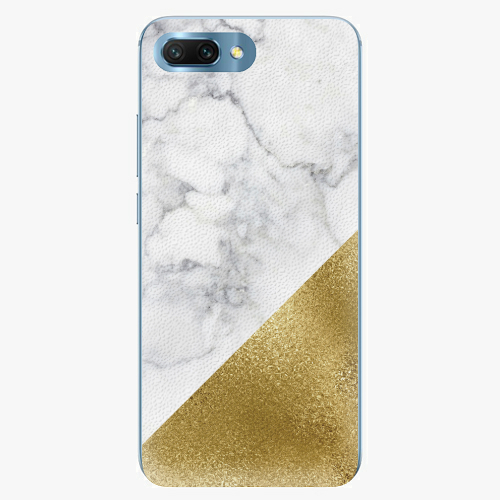 Plastový kryt iSaprio - Gold and WH Marble - Huawei Honor 10
