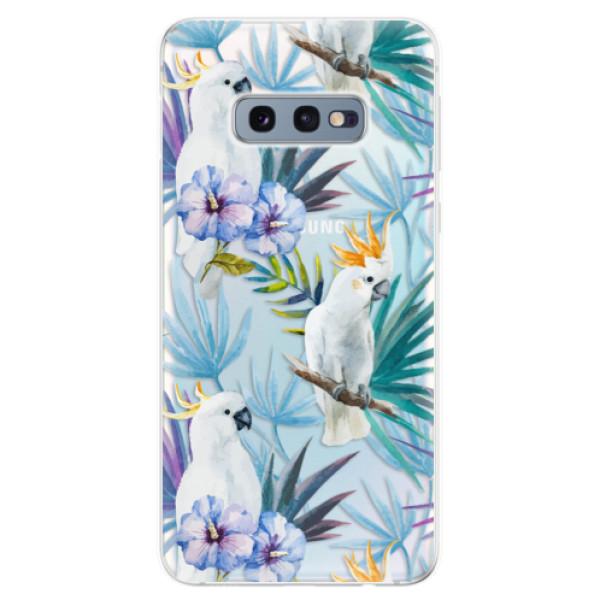 Odolné silikonové pouzdro iSaprio - Parrot Pattern 01 - Samsung Galaxy S10e