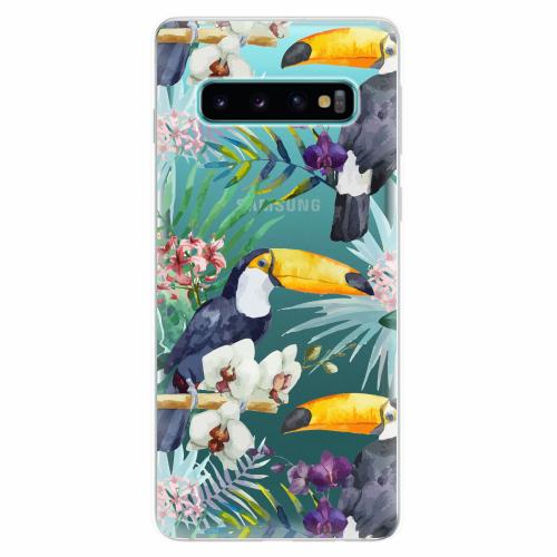 Silikonové pouzdro iSaprio - Tucan Pattern 01 - Samsung Galaxy S10