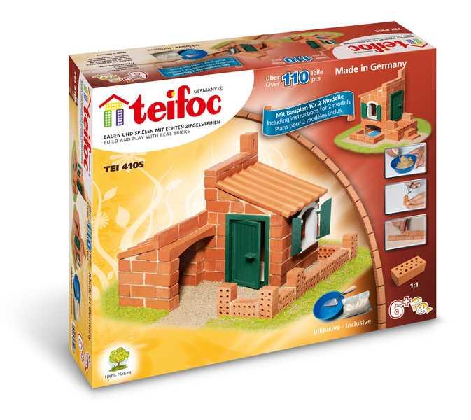 TEIFOC Domek Miguel 4105 *Stavebnice cihly s maltou*