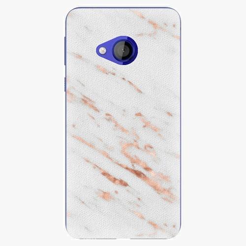 Plastový kryt iSaprio - Rose Gold Marble - HTC U Play