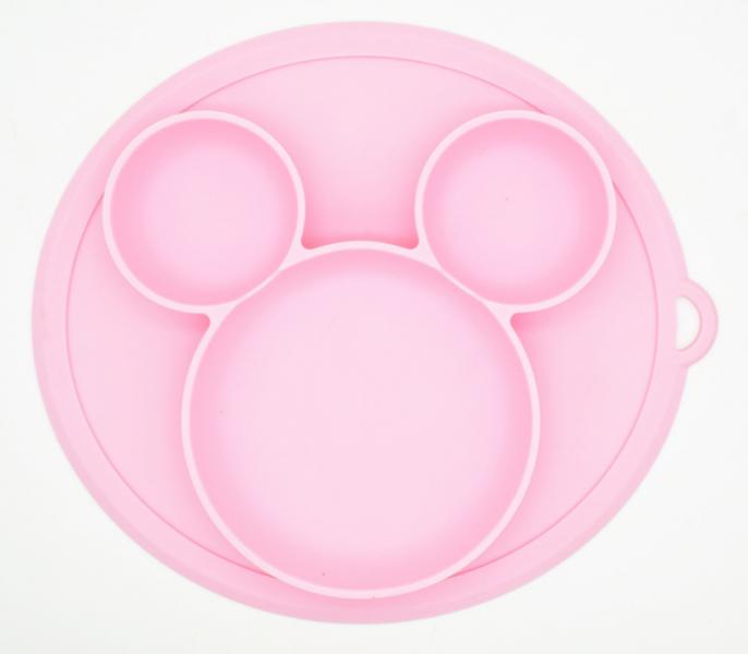 Baby in World Silikonová miska - růžová