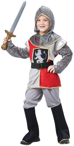KARNEVAL Šaty RYTÍŘ vel. S (110-120cm) 4-6 let KOSTÝM