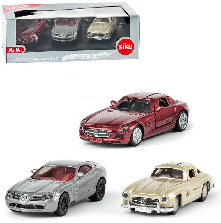 SIKU Mercedes-Benz kovové autíčko ikonické set 3ks dárkové balení