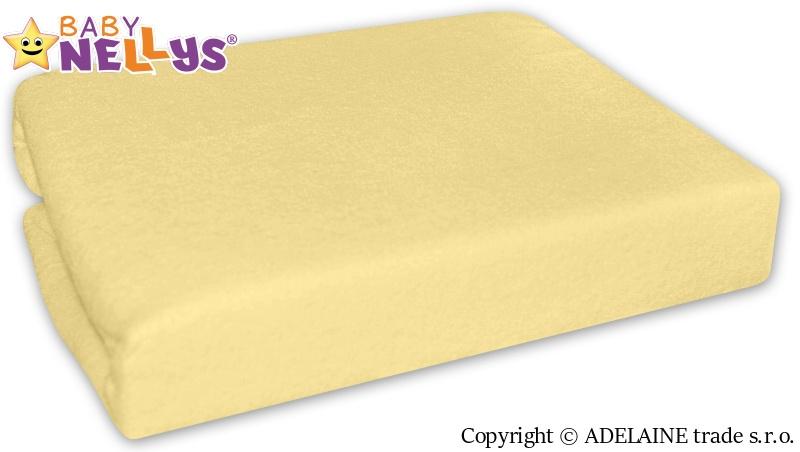 Nepromokavé prostěradlo 120x60cm - žluté, krémové - 120x60