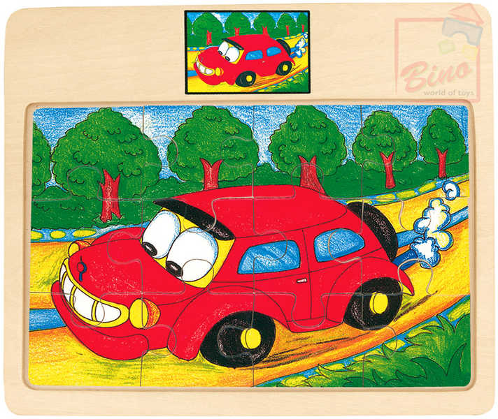 BINO DŘEVO Puzzle na desce auto TORI