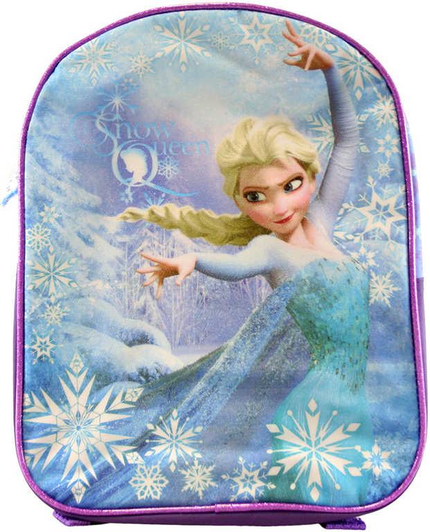 Batoh dětský Frozen (Ledové Království) třpytivý Fialový 25x11x32cm