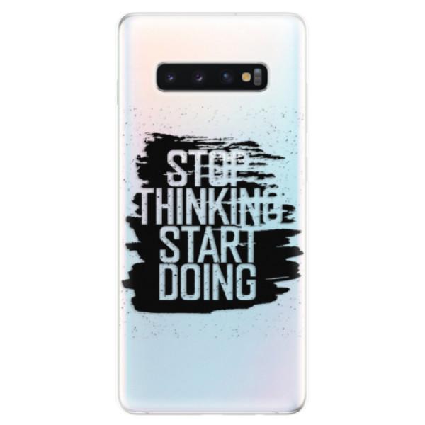 Odolné silikonové pouzdro iSaprio - Start Doing - black - Samsung Galaxy S10+